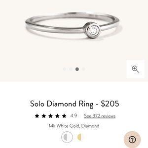 Mejuri Solo Diamond Ring